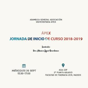 Inicio de Curso Ápex 2018-2019